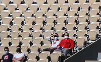 10th October 2020, Roland Garros, Paris, France; French Open tennis, Ladies singles final 2020;  Spectators watch the womens singles final between Sofia Kenin of the United States and Iga Swiatek of Poland at the French Open tennis tournament