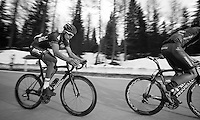2013 Giro d'Italia.stage 11.Tarvisio - Vajont: 182km..Taylor Phinney (USA) up the final meters of the Sella Ciampigotto (1790m) ..