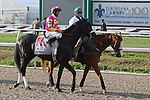 Mylute ridden by Shaun Bridgmohan finishes second in The 100th Running of The Louisiana Derby Stakes at Fair Grounds Race Course in New Orleans, Louisiana on March 30, 2013. (( Special transmission of horses in the Top 25 for points for the 2013 KentuckyDerby ))
