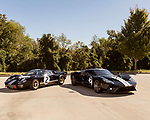 October 18, 2019. Charlotte, North Carolina.<br /> <br /> (left to right) The Ford GT Mark II and the contemporary Ford GT.<br /> <br /> Rob Kauffman is owner of Charlotte, NC-based RK Motors, a classic car restoration and sales shop. In 1966 a Ford racing team beat Ferrari at Le Mans. Kauffman has the Ford GT Mk II that won the race. He also owns a new Ford GT painted in the same paint scheme as the 1966 car.<br /> <br /> Jeremy M. Lange for The Wall Street Journal