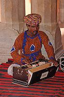 Indien, Rajasthan, Jaipur, Musiker im City-Palast