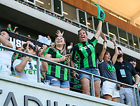 AUSTIN, TX - JUNE 19: Fans before a game between San Jose Earthquakes and Austin FC at Q2 Stadium on June 19, 2021 in Austin, Texas.