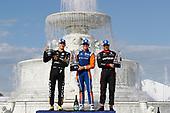 Marcus Ericsson, Arrow Schmidt Peterson Motorsports Honda, Scott Dixon, Chip Ganassi Racing Honda, Will Power, Team Penske Chevrolet, podium