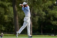 30th August 2020, Olympia Fields, Illinois, USA; Hideki Matsuyama of Japan plays his shot on the seventh tee during the final round of the BMW Championship on the North Course at Olympia Fields Country Club