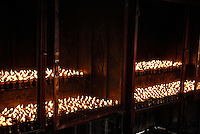 Butterlamps being kept inside a special building usually very close or right at the Temple,Lhasa, Tibet.