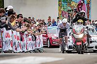 eventual stage winner Tadej Pogacar (SVN/UAE-Emirates)<br /> <br /> Stage 5 (ITT): Time Trial from Changé to Laval Espace Mayenne (27.2km)<br /> 108th Tour de France 2021 (2.UWT)<br /> <br /> ©kramon