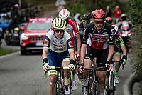Tim Wellens (BEL/Lotto-Soudal) & Jan Bakelants (BEL/Intermarché - Wanty - Gobert) leading the breakaway group<br /> <br /> 115th Il Lombardia 2021 (1.UWT)<br /> One day race from Como to Bergamo (ITA/239km)<br /> <br /> ©kramon