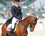 William Fox-Pitt and Sea Cookie before their dressage test at Rolex