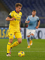 Hellas Verona s Matteo Lovato in action during the Serie A soccer match between Lazio and Hellas Verona at Rome's Olympic Stadium, December 12, 2020.<br /> UPDATE IMAGES PRESS/Riccardo De Luca