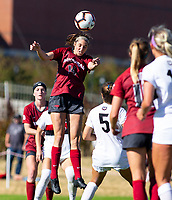 Georgia Bulldogs vs Arkansas Razorback Women's Soccer - Arkansas mid-fielder Taylor Malham (14)<br />