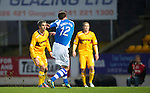 St Johnstone v Motherwell...03.11.12      SPL.David Robertson scores a late goal.Picture by Graeme Hart..Copyright Perthshire Picture Agency.Tel: 01738 623350  Mobile: 07990 594431