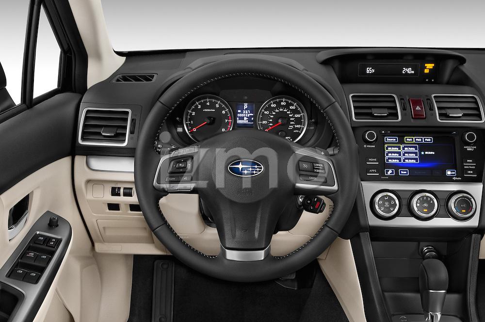Car pictures of steering wheel view of a 2015 Subaru Impreza 2.0I Premium Auto 4 Door Sedan Steering Wheel