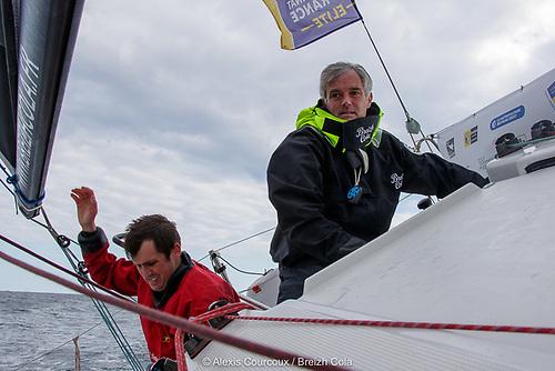Irish Sailor of the Year Tom Dolan (left) with French Ace Gildas Mahé