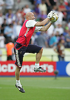 Fabien Barthez.  Italy defeated France on penalty kicks after leaving the score tied, 1-1, in regulation time in the FIFA World Cup final match at Olympic Stadium in Berlin, Germany, July 9, 2006.