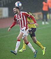 Huddersfield Town's Richard Stearman in action with  Stoke City's Nick Powell<br /> <br /> Photographer Mick Walker/CameraSport<br /> <br /> The EFL Sky Bet Championship - Stoke City v HUddersfield Town - Saturday 21st November 2020 - bet365 Stadium - Stoke<br /> <br /> World Copyright © 2020 CameraSport. All rights reserved. 43 Linden Ave. Countesthorpe. Leicester. England. LE8 5PG - Tel: +44 (0) 116 277 4147 - admin@camerasport.com - www.camerasport.com