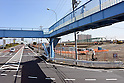 """Construction for the """"super levees"""" resume along the Edogawa River in Tokyo's Edogawa ward"""