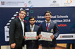 11 Feburary 2015, New Delhi, India: Australian High Commissioner to India Mr. Patrick Suckling presenting certificates and prizes to Ryan International School students, winners of the Astronomy section India International Video Competition run by Austrade in conjunction with Cambridge English and major sponsors Singapore Airlines presented at the Australian High Commission, New Delhi.  Picture by Graham Crouch/Austrade