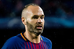 Andres Iniesta Lujan of FC Barcelona reacts during the UEFA Champions League 2017-18 match between FC Barcelona and Olympiacos FC at Camp Nou on 18 October 2017 in Barcelona, Spain. Photo by Vicens Gimenez / Power Sport Images
