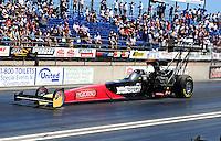 Jul. 24, 2011; Morrison, CO, USA: NHRA top fuel dragster drive Rod Fuller during the Mile High Nationals at Bandimere Speedway. Mandatory Credit: Mark J. Rebilas-