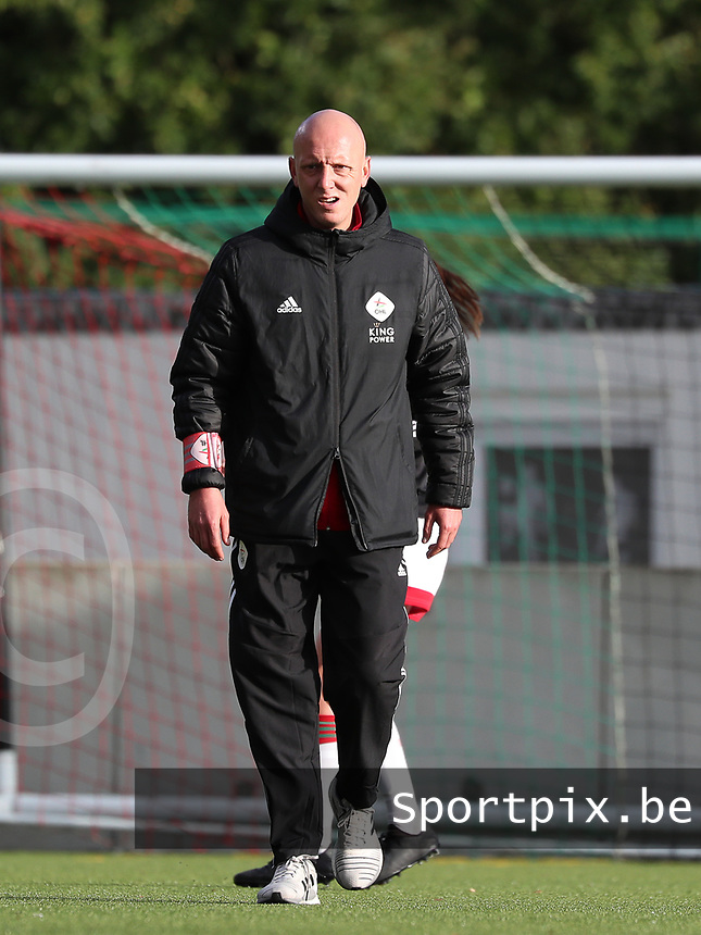 OHL's assistant coach Arno Van Den Abbeel pictured before  a female soccer game between Oud Heverlee Leuven and Eendracht Aalst Ladies  on the third matchday of the 2020 - 2021 season of Belgian Womens Super League , Sunday 4 th of October 2020  in Heverlee , Belgium . PHOTO SPORTPIX.BE | SPP | SEVIL OKTEM