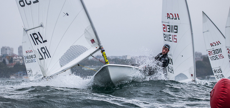 Finn Lynch powered up the overall rankings at the Laser European Championships in Bulgaria today to lie eighth overall going into the final day