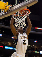 Patrick Christopher dunks the ball. The Washington Huskies defeated the California Golden Bears 79-75 during the championship game of the Pacific Life Pac-10 Conference Tournament at Staples Center in Los Angeles, California on March 13th, 2010.