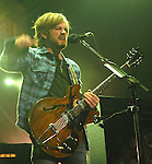 Lead singer Caleb Followill and the Kings of Leon perform at the Toyota Center Tuesday Oct. 06,2009. (Dave Rossman/For the Chronicle)