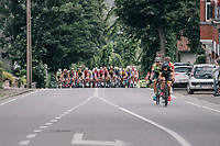 right after the official stage start, Quinten Hermans (BEL/Telenet Fidea Lions) tries to break away from the pack<br /> <br /> Ster ZLM Tour (2.1)<br /> Stage 4: Hotel Verviers > La Gileppe (Jalhay)(190km)