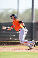 San Francisco Giants shortstop Christian Arroyo (12) during an Instructional League game against the Milwaukee Brewers on October 10, 2014 at Maryvale Baseball Park Training Complex in Phoenix, Arizona.  (Mike Janes/Four Seam Images)