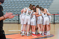 team Belgium pictured before a basketball game between the national teams of Belgium , called the Belgian Cats , and Serbia on Friday 28 th of May 2021 in Kortrijk , Belgium . PHOTO SPORTPIX.BE | SPP | STIJN AUDOOREN