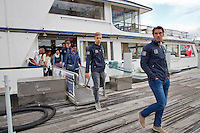 Swiss, Genève, September 14, 2015, Tennis,   Davis Cup, Swiss-Netherlands, Dutch team on a boat trip,  Jesse Huta Galung and Tallon Griekspoor <br /> Photo: Tennisimages/Henk Koster