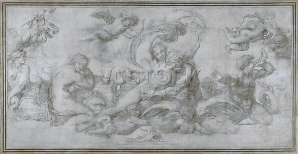 Full title: A Woman borne off by a Sea God (?)<br /> Artist: Agostino Carracci<br /> Date made: about 1599<br /> Source: http://www.nationalgalleryimages.co.uk/<br /> Contact: picture.library@nationalgallery.co.uk<br /> <br /> Copyright © The National Gallery, London