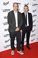 Simon Chinn and Roberto Minervini<br /> arriving for the London Film Festival Awards, Vue Leicester Square, London<br /> <br /> ©Ash Knotek  D3452  20/10/2018