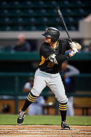 Bradenton Marauders first baseman Albert Baur (23) at bat during the second game of a doubleheader against the Lakeland Flying Tigers on April 11, 2018 at Publix Field at Joker Marchant Stadium in Lakeland, Florida.  Bradenton defeated Lakeland 1-0.  (Mike Janes/Four Seam Images)