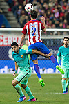 FC Barcelona's forward Luis Suarez and Atletico de Madrid's defender Diego Godin competes for the ball with during the match of Copa del Rey between Atletico de  Madrid and Futbol Club Barcelona at Vicente Calderon Stadium in Madrid, Spain. February 1st 2017. (ALTERPHOTOS/Rodrigo Jimenez)