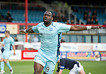 Dundee v St Johnstone....29.09.12      SPL.Gregory Tade celebrates his goal.Picture by Graeme Hart..Copyright Perthshire Picture Agency.Tel: 01738 623350  Mobile: 07990 594431