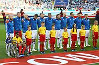 Mannschaft Island bei der Nationalhymne - 16.06.2018: Argentinien vs. Island, Spartak Stadium Moskau