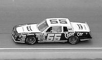 Benny Parsons 55 action Firecracker 400 at Daytona International Speedway in Daytona Beach, FL on July 4, 1983. (Photo by Brian Cleary/www.bcpix.com)