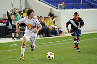 Paul Ehrenworth (3) of the New York Red Bulls. The USMNT U-17 defeated New York Red Bulls U-18 4-1 during a friendly at Red Bull Arena in Harrison, NJ, on October 09, 2010.
