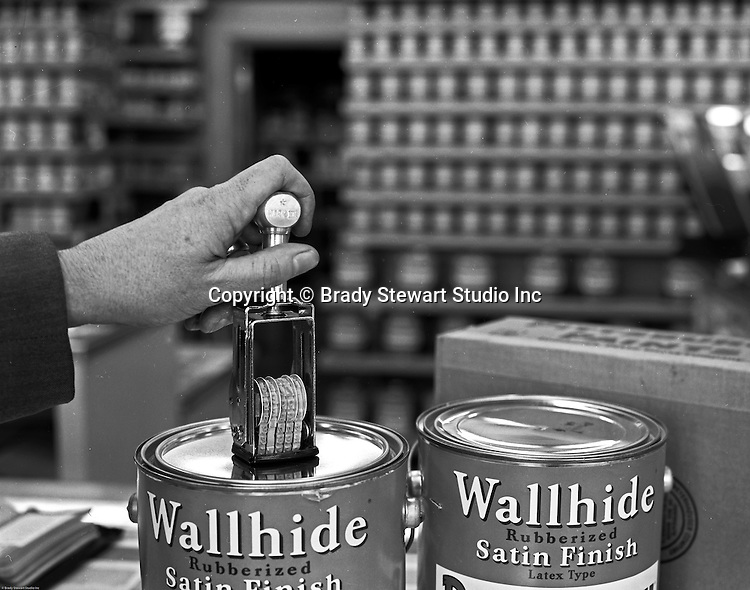 Client: Pittsburgh Plate Glass<br /> Ad Agency: Ketchum, MacLeod & Grove<br /> Contact:<br /> Product: Pittsburgh Paints<br /> Location: Pittsburgh Paints store in Pittsburgh.<br /> <br /> Location photography at a Pittsburgh Paints Glass store featuring Wallhide Satin Finish Paints.