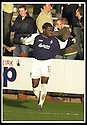 25/1/03       Copyright Pic : James Stewart                  .File Name : stewart-falkirk v hearts 17.COLLIN SAMUEL CELEBRATES AFTER SCORING FALKIRK'S FIRST GOAL...........James Stewart Photo Agency, 19 Carronlea Drive, Falkirk. FK2 8DN      Vat Reg No. 607 6932 25.Office : +44 (0)1324 570906     .Mobile : + 44 (0)7721 416997.Fax     :  +44 (0)1324 570906.E-mail : jim@jspa.co.uk.If you require further information then contact Jim Stewart on any of the numbers above.........
