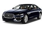 2021 Jaguar XF SE 4 Door Sedan Angular Front automotive stock photos of front three quarter view