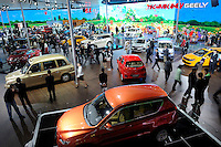 Geely Automobile Holdings Ltd. vehicles are displayed at the Beijing Auto Show in Beijing, China. The car show has attracted all the world's major auto markers. China's vehicle sales have breached the 10-million barrier for the first time ever, with 10.9 million automobiles sold last year. .23 Apr 2010