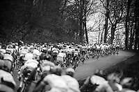 48th Amstel Gold Race 2013..peloton storming up the hill