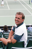 USA, August 30, 1995, New York, US Open, coach Alex Reijnders<br /> Photo: Tennisimages/Henk Koster