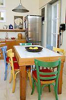 contemporary colored kitchen