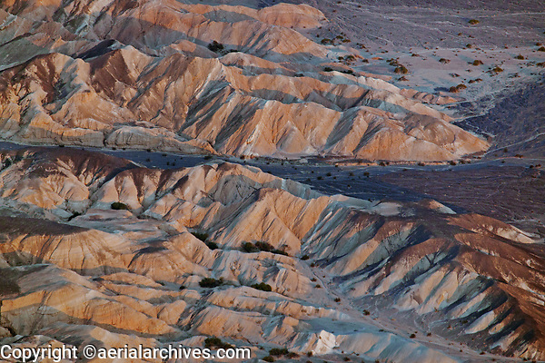 aerial photograph of mountains of the Amargosa Range at the base of the north eastern portion Death Valley National Park, northern Mojave Desert, California