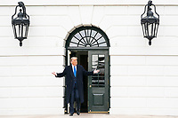 President Donald J. Trump greets guests on the South Lawn of the White House Tuesday, Oct. 27, 2020, prior to boarding Marine One en route to Joint Base Andrews, Md. to begin his trip to Michigan, Wisconsin, Nebraska and Nevada. (Official White House Photo by Joyce N. Boghosian)