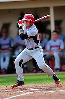 University of Hartford Hawks designated hitter Erik Ostberg (21) during a game versus the Boston College Eagles at Pellagrini Diamond at Shea Field in Chestnut Hill, Massachusetts on May 9, 2015.( Ken Babbitt/Four Seam Images)