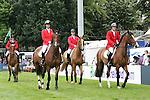 Equestrian - Showjumping - Meydan FEI Nations Cup.The USA team during the Meydan FEI Nations Cup at the Royal Dublin Society (RDS) in Dublin.